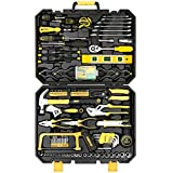 DEKOPRO 168pcs Socket Wrench Auto Repair Tool Combination Package Mixed Tool Set Hand Tool Kit with Plastic Toolbox Storage Case (168PCS)