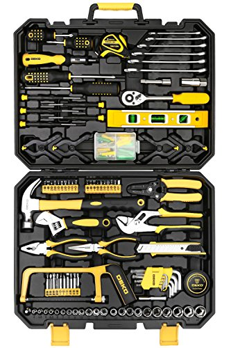 Kit Factory Shift (DEKOPRO 168 Piece Socket Wrench Auto Repair Tool Combination Package Mixed Tool Set Hand Tool Kit with Plastic Toolbox Storage Case)