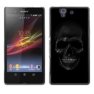 SHIMIN CAO- Dise?o Caso duro de la cubierta Shell protector FOR Sony Xperia Z L36H L36I C6603 Xperia Z- Skull Devil Pattern