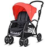 Cheap Baby Joy Stand and Ride Stroller, Stand On Tandem Stroller, Sit and Stand Stroller for Babies, Ultra Light Stroller (Red)
