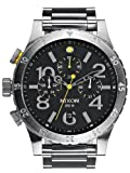 Nixon 48-20 Chrono Black Dial Stainless Steel Quartz Men's Watch A486-000