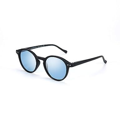Zenottic Gafas de sol Polarizadas Redondo Retrospectivo Clásico Retrospectivo Lentes de sol Marco UV400 Para hombres y mujeres