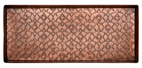 HF by LT Garden Gate Pattern Metal Boot Tray, 30