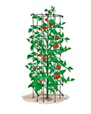 Mr.Garden Super High Heavy Duty Tomato Trellis 64Inch H by 14Inch Square Tomato Square Mesh Green Set of 3