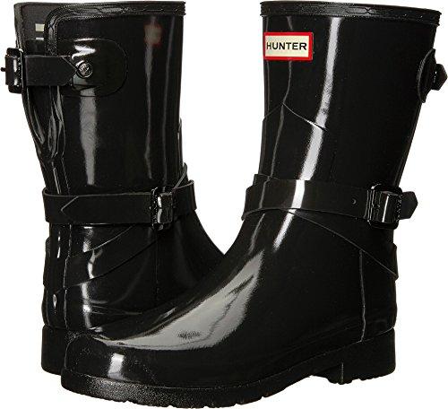 Hunter Womens Refined Back Adjustable Short w/ Ankle Strap Gloss Black IDdPa8I