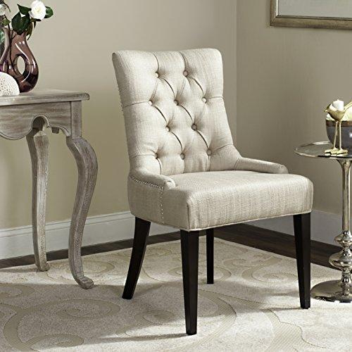 Safavieh Mercer Collection Erica Button-Tufted Side Chair, Khaki Grey -  MCR4515D