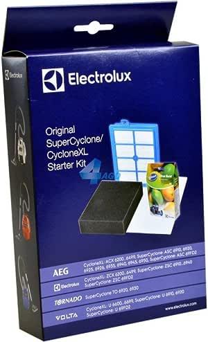 Electrolux VCSK4 - Kit de 3 filtros y 4 sacos para aspiradoras AEG Super Cyclone ASC 6910, color blanco: Amazon.es: Hogar