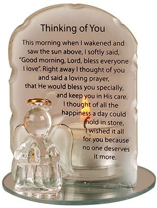 Angel Candleholder With Prayer - Thinking of You (5059)
