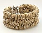 3 8 d shackle - Adjustable Shackle Ladder Style Paracord Survival Bracelet-5 Sizes-12 Plus Colors (Desert Camo, 8.0