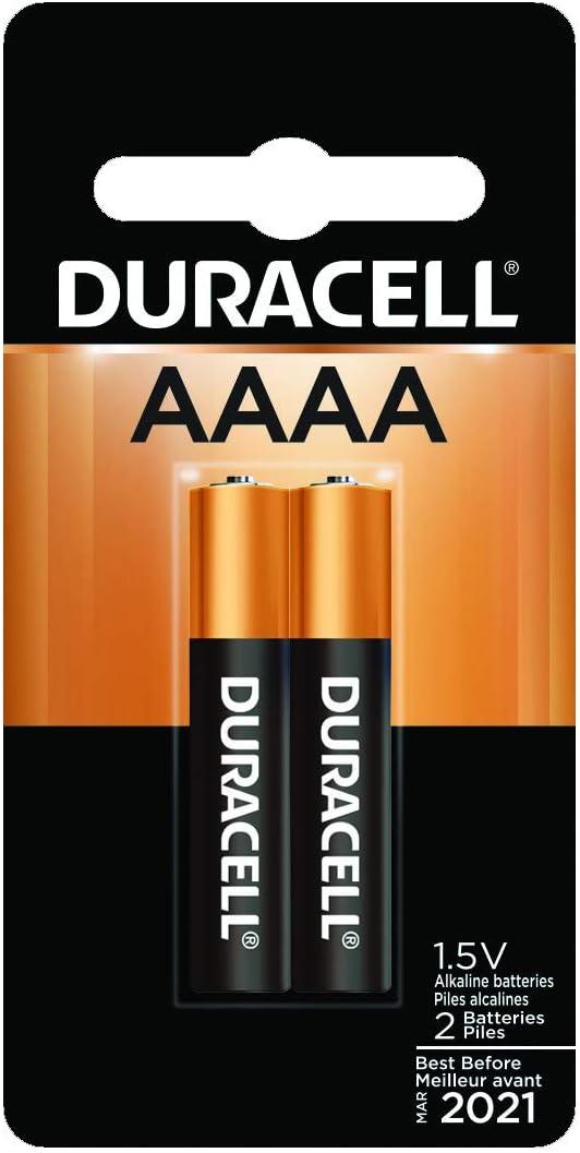 2 baterias  Duracell - AAAA 1.5V alkaline