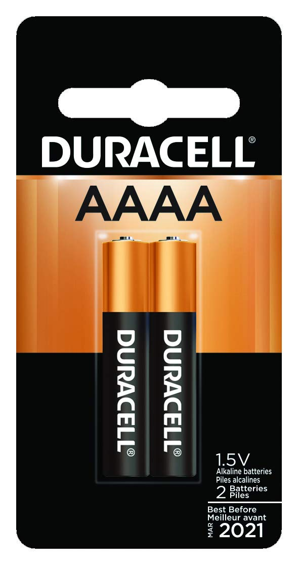 Duracell - AAAA 1.5V Specialty Alkaline Battery - long-lasting battery - 2 Count (Pack of 1)