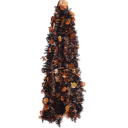 Halloween Tinsel Garland Decoration, Yhosue 5 Pcs Plastic