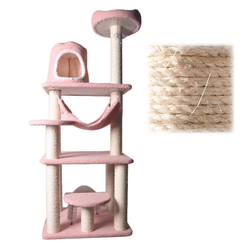 Hexiansheng Cat Climb Trees Plush Cat's Nest cat Platform a Large cat Furniture 60  50  152cm of sisal Pillar