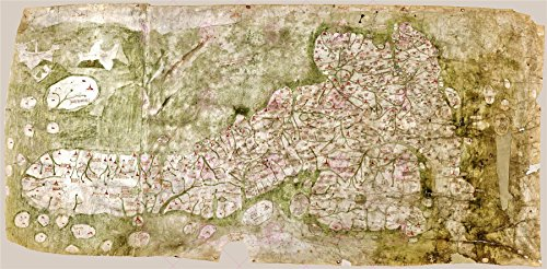 Map C.1360 Unknown Gough British Isles Large Poster Print