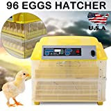 SUNCOO 96 Digital Egg Incubator Hatcher Temperature Control Automatic Turning Chicken
