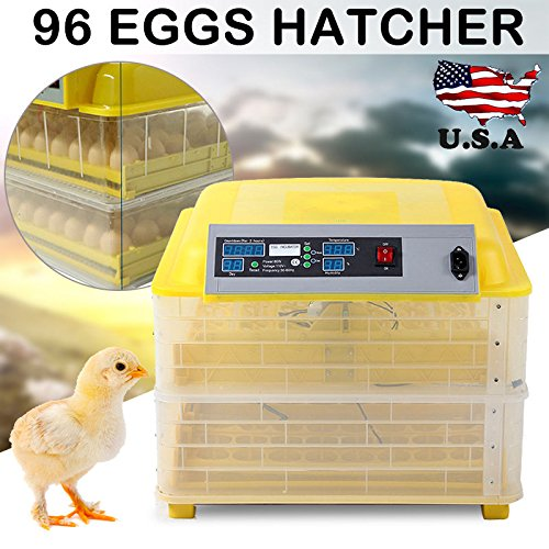 96 Digital Egg Incubator Hatcher Temperature Control Automatic Turning Chicken - 5