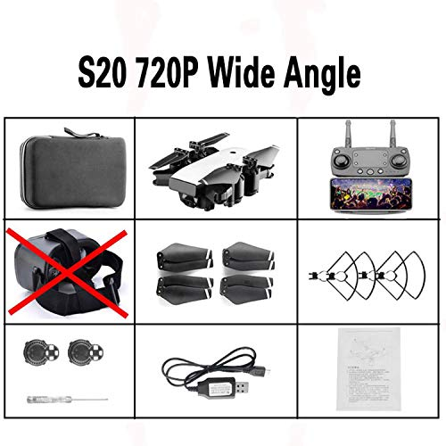 (S20 Foldable Drone Plane with Camera HD Quadcopter FPV Quadcopters Racing RC Helicopter 4k Race Drone x PRO Profession,720P Angle with Bag)