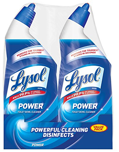Lysol Power Toilet Bowl Cleaner Value Pack, 2 Count