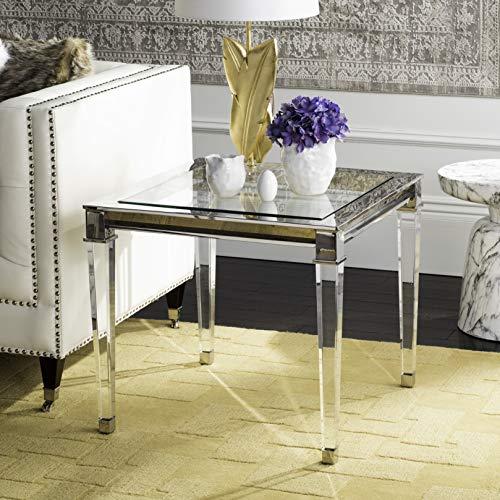 Safavieh SFV2513B Home Collection Charleston Acrylic End Table, Silver