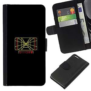 Stuss Case / Funda Carcasa PU de Cuero - Rejilla Track - Apple Iphone 5C