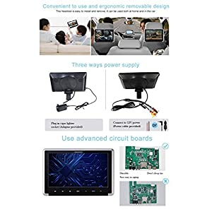 YUNSHANGAUTO 10.1 Inch HD 1080P TFT LCD Screen CarHeadrest DVD Player with HDMI Port and Remote Control