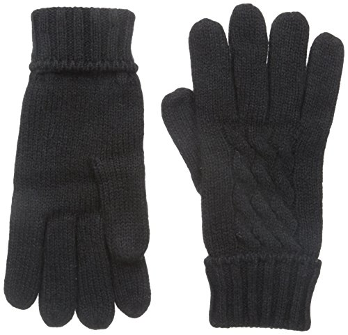 - Manzella Women's Wool Blend Cable Knit Gloves Black SM/MD