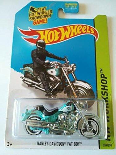 Harley Davidson fat boy Hot Wheels 209/250 new in package Hw work shop Rare bike by Harley-Davidson