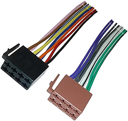 Autoradio ISO Kabel Stecker Strom Lautsprecher DIN Kabelbaum 16 Pin VOLL belegt