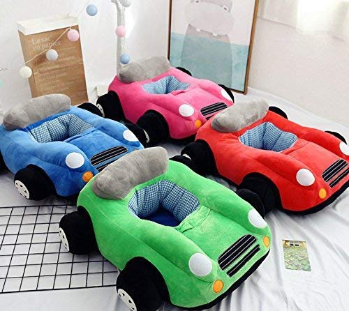 Without Cotton Filling Material DIY Sewing Without Zipper Podster Baby Lounger Kids Lounger Chair Kids Bean BBag Plush Seat for Baby Car Plush Sofa for Baby Blue Car