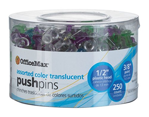 officemax-push-pins-assorted-colors-250-ct