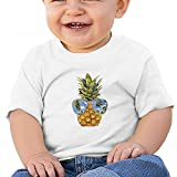 White Baby Pineapple Sunglasses T-Shirt 12M Soft Cozy Infant Short Sleeve Undershirts