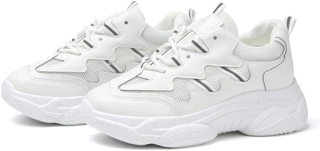XHCHE Chaussures de Course sur Route pour Femmes Chaussures de Sport de Plein air Baskets de Sport Respirantes et légères Baskets de Marche Blanc
