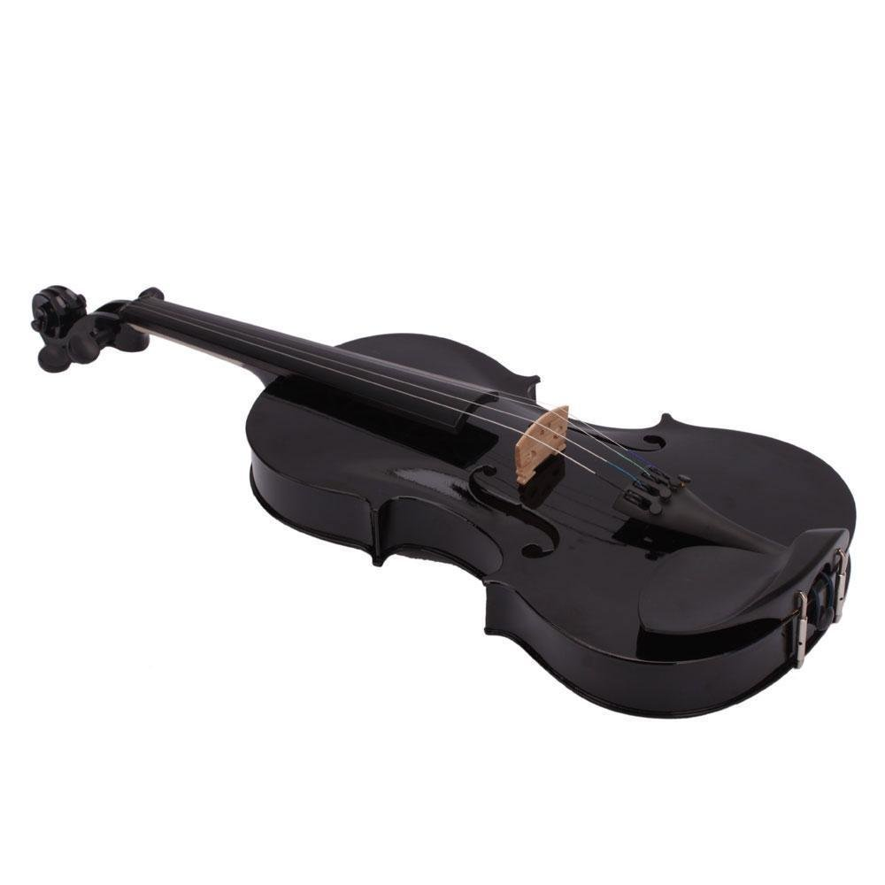 SODIAL(R) 4/4 Full Size Acoustic Violin Fiddle Black with Case Bow Rosin 057337