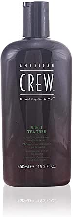 American Crew Tea Tree 3 in 1 Shampoo, Conditioner and Body Wash, 450ml
