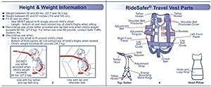 Safe Traffic System Ride Safer Travel Vest Type 2, Black, Small