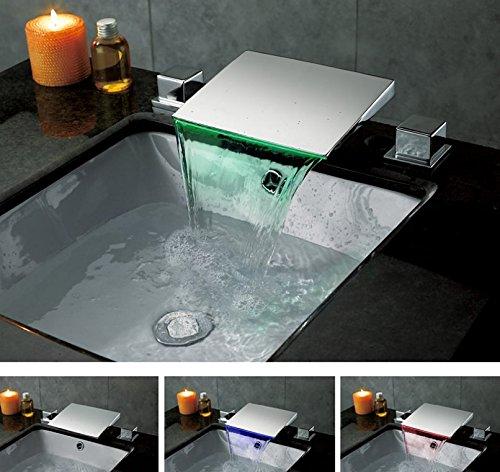 25 LHbox Basin Mixer Tap Bathroom Sink Faucet Basin faucet 3-Piece 8