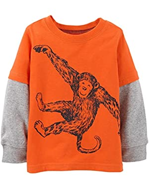 Carter's Baby Boys' Graphic Two Fer (Baby) - Orange