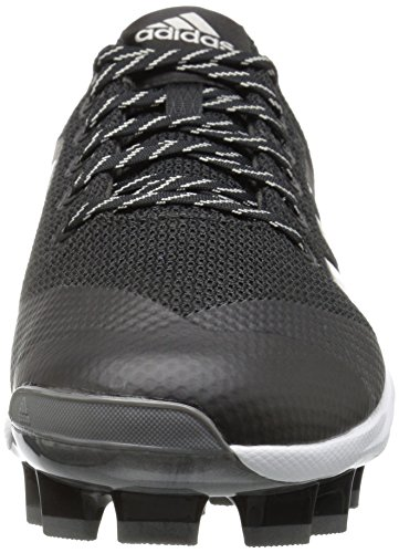 adidas Performance Damen PowerAlley 5 TPU W Baseballschuh Schwarz / Metallic Silber / Weiß