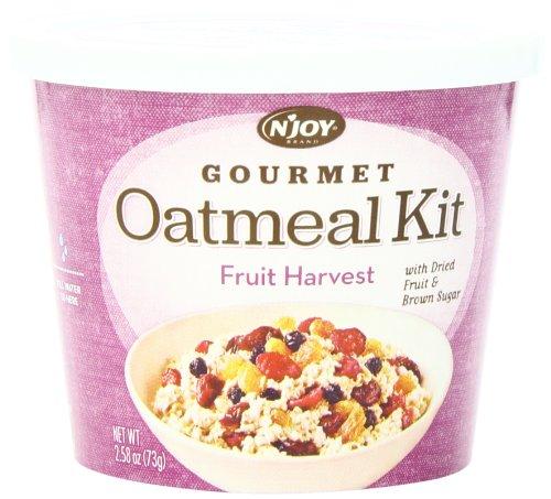 N'Joy Oatmeal Kit, Fruit Harvest, (Pack of 8) (Harvest Oatmeal)