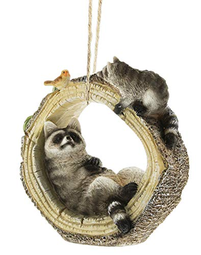 Distinctive Designs Raccoon Tree Trunk Figurine with for sale  Delivered anywhere in USA