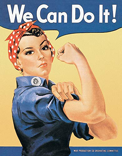 (Poster Discount MS0796 Rosie the Rivetor Tin Sign, 13x16 Blue, Yellow, White, Red)