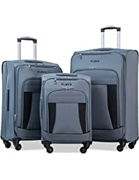 Flieks 3 Piece Luggage Set Expandable Spinner Suitcase