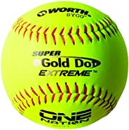 Worth One Nation 12 inch Gold Dot Slowpitch Softball Balls, ON12CY