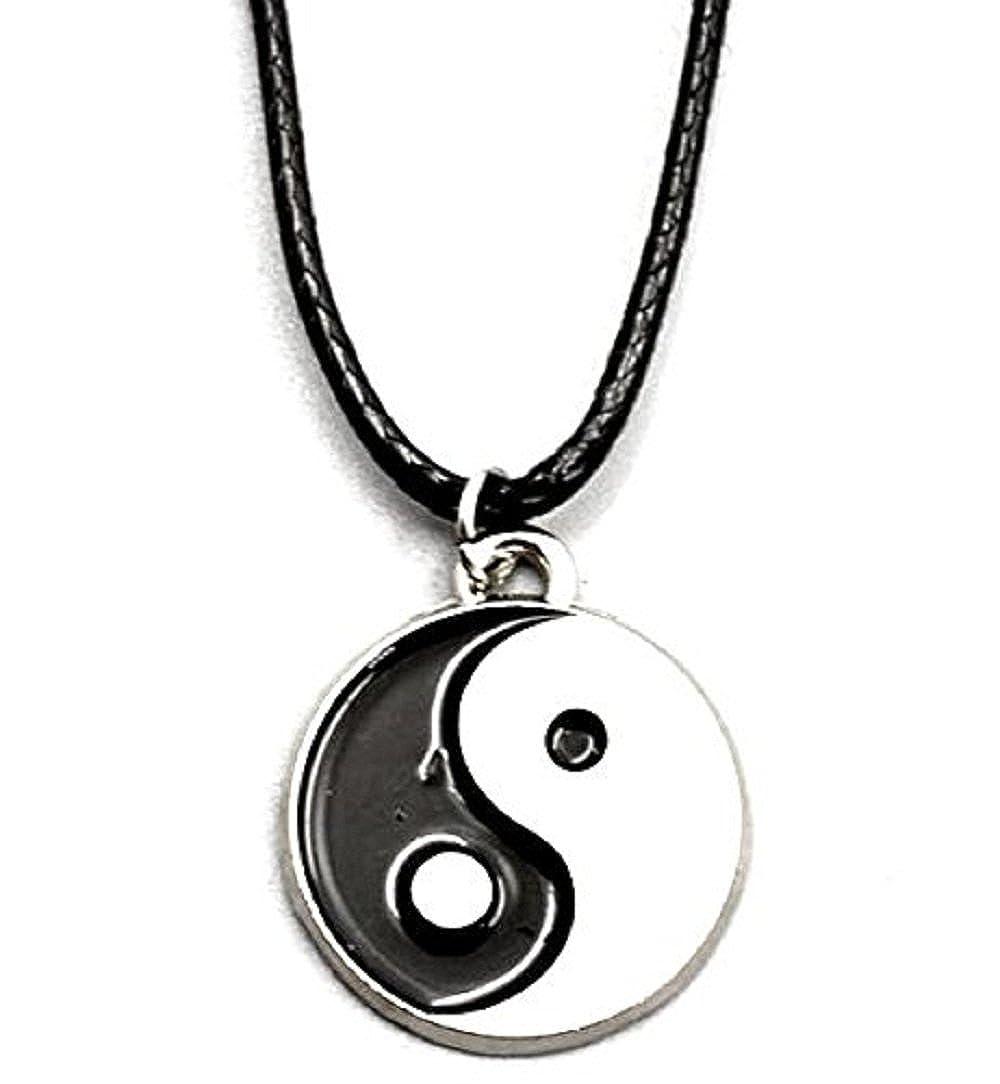 Inception Pro Infinite Collar con Pequeño Colgante de Tao Yin Yang y Cordón Negro 8927635614643