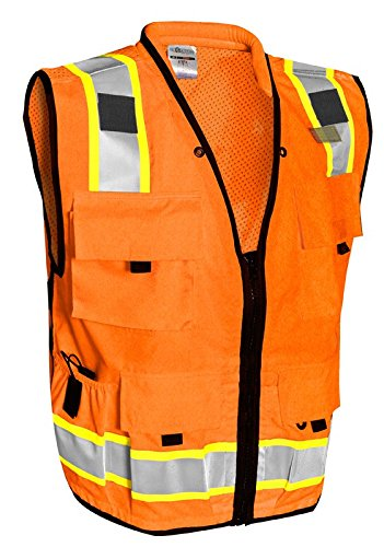 ML Kishigo - Caltrans Series Polyester/Ultra-Cool Mesh, Class 2, color: Orange, size: Large