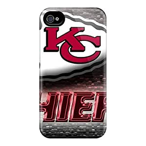 Hot Tpye Kansas City Chiefs Case Cover For Iphone 4/4s