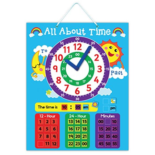 5K Education All About Time Magnetic Learning Board
