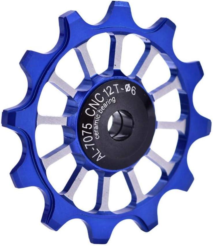 Desviador de la Bicicleta Polea 12T Cer/ámica Aluminio Rueda Jockey Ajuste Trasero Tornillos de 4//5//6 mm Soporte 7//8//9//10 Velocidad