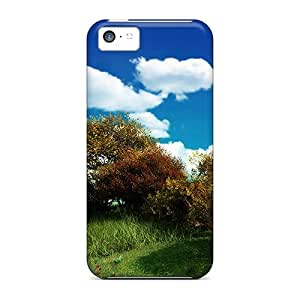 Wood L Hill Case Compatible With Iphone 5c/ Hot Protection Case
