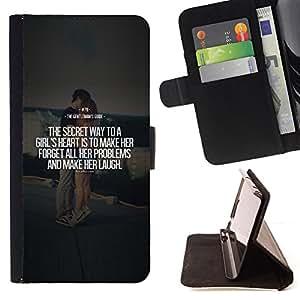 BullDog Case - FOR/Sony Xperia Z1 Compact D5503 / - / marriage couple quote love text heart /- Monedero de cuero de la PU Llevar cubierta de la caja con el ID Credit Card Slots Flip funda de cuer